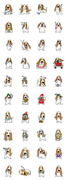 Basset hound (dog) Sticker