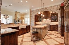 Improving Kitchen Looks with Wall Stone Design