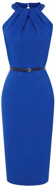 Executive suite / karen cox. Blue sheath dress