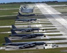 Fighters, bombers, tankers and air control aircraft occupy the ...