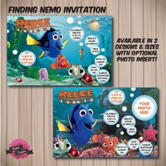 FINDING NEMO Invitation. Choose from 2 designs by DaliahDesigns