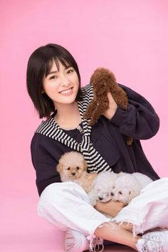 Shen yue and puppies Garden Pictures, New Pictures, Korean Celebrities, Celebs, Korean Girl, Asian Girl, New Year Concert, Shan Cai, Dramas