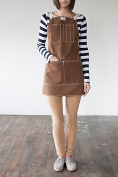 No. 325 Artisan Apron in Rust Waxed Canvas & by ArtifactBags