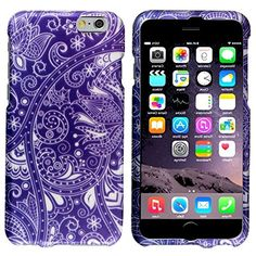 "myLife Grape Purple and Cotton White {Swirling Vines Spring Floral Blossoms} 2 Piece Snap-On Rubberized Protective Faceplate Case for the NEW iPhone 6 Plus (6G) 6th Generation Phone by Apple, 5.5"" Screen Version ""All Ports Accessible"" myLife Brand Products http://www.amazon.com/dp/B00UB87WG6/ref=cm_sw_r_pi_dp_aCAhvb01VVYKE"