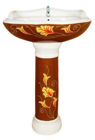 Check out this colorful and flower pattern wash basin to give totally new and different look your bathroom.