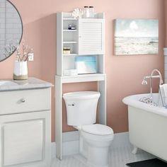 61 x 170 cm Toiletten-Regal Nemeth Haus am Meer Wall Mounted Bathroom Cabinets, Bathroom Storage, Cabinet Storage, Bathroom Art, Bathroom Shelves, Bathroom Designs, Bathroom Furniture, Wall Shelves, Furniture Decor