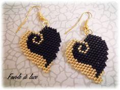Brick stitch earrings (pattern by Silverhill Design)
