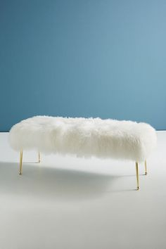 Mongolian sheep wool creates a fabulously fuzzy, infinitely glam, superbly cozy respite. Display at the foot of your bed or alongside an entryway console.