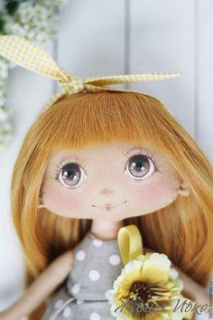 Купить Алинка - серый, желтый, подарок, подарок девочке, горошек, горошки, подарок девушке