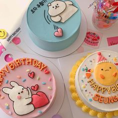 Pretty Birthday Cakes, Pretty Cakes, Beautiful Cakes, Amazing Cakes, Happy Birthday, Korean Cake, Pastel Cakes, Cute Baking, Un Cake