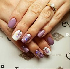 Checkout these gorgeous lavender nails by Created with gel and our glitter. They are so sweet!