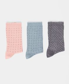 Pack of polka dot pattern socks - OYSHO
