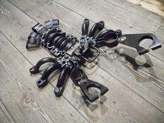 Recycled Metal Sculpture by martiensbekker.co.uk, Scrap Art, Port Isaac, Cornwall