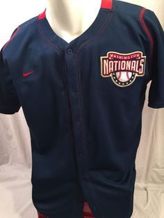 $29.95 ~ Washington Nationals Ryan Zimmerman Blue Button Front Jersey/Shirt (XL) Nike #Nike #WashingtonNationals Find this item and other great antiques and collectibles online at http://stores.ebay.com/michaelraeantiques