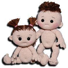 CROCHET - DOLL / POUPEE / POPJE - Baby Grundanleitung - Kostenlose Pdf Anleitung - click das gewünschte Bild