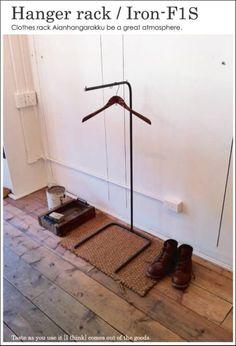アンティーク アイアン ハンガーラック ディスプレイ レトロ Antique wood hanger ¥25000yen 〆03月29日