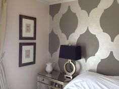 Master bedroom - hand-painted walls