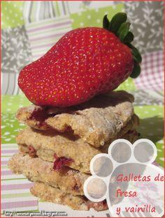 Recetas Caseras Para Perros: Galletas de Fresa con aroma de vainilla
