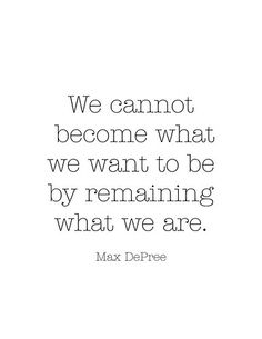 We cannot become...