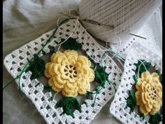 Crochet Flower Granny Square #TUTORIAL DIY Crochet - YouTube
