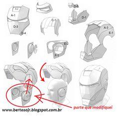 Cosplay fantasia  homem de ferro Iron Man Helmet, Iron Man Suit, Iron Man Armor, Iron Man Cosplay, Cosplay Diy, Iron Man Pepakura, Cardboard Mask, Avengers, Paper Art