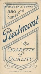 1909-11 The American Tobacco Company T206 White Border #483 Ira Thomas Back