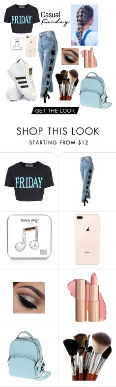 """""""Happy Friday!😁😆"""" by aubreylb ❤ liked on Polyvore featuring Alberta Ferretti, Sans Souci, Happy Plugs, Bally and adidas"""