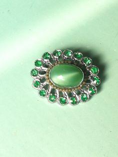 Vintage 1920s art deco green emerald paste by yorkshiretreasure