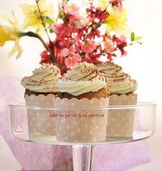 Cupcake di ricotta con vaniglia e cacao