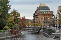 National Theatre on Vltava River, Prague, Czech Republic.  /// What would you do with  http://www.ExtraMoneyUSA.com