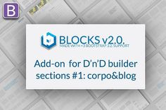 Add-on #1 for BLOCKS d'n'd builder by Bootstraptor on @creativemarket