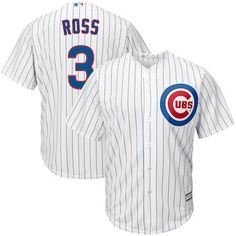 9efa370a1 David Ross Chicago Cubs Majestic Home Official Cool Base Player Jersey -  White/Royal Spring