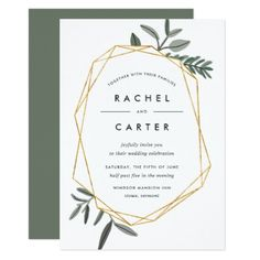 Olive Leaf Wedding Invitation - spring wedding diy marriage customize personalize couple idea individuel