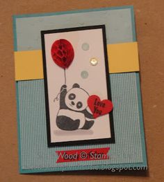 This little Panda is so cute! He just makes your heart melt doesn't he! This is one of the cards that everyone joining me at my mon. Panda Birthday, Little Panda, Heart Melting, Valentines, Valentine Cards, Embossing Folder, Panda Bear, Party Hats, Paper Design