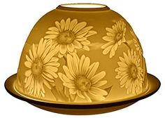 Welink Light-Glow Tealight Candle Holder, Daisies