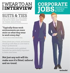 What to Wear to a Marketing, Sales or Finance Job #Interview
