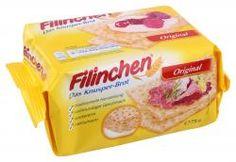 Filinchen. Ein dünnes Waffelbrot bestehend aus Weizenteig, wurde/wird meißt mit süßen Aufstrichen gegessen. Es wird von der Gutena Nahrungsmittel GmbH in Apolda (Thüringen) hergestellt.