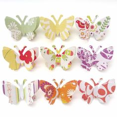 Paper Butterfly Push Pins