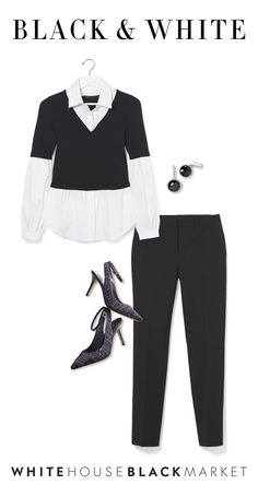 Black and white… makes everything right. Elevate classic styles with our signature color combo to make a statement with polished workwear. A black pant always makes a chic statement, and must we say- it's an essential. You can always top it off with a classic twofer blouse and accessories, making effortless your new style status.