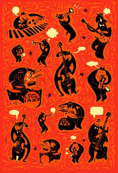 Jazz Forms by Peter Donnelly, via Behance http://www.donnellyillustration.com/