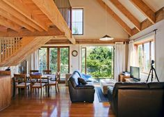 Modern Farm House on Goat Dairy - Farm stays for Rent in Tomales, California, United States Waiheke Island, Farm Stay, Holiday Accommodation, Next Holiday, Modern Farmhouse, Barn, Outdoor Decor, Room, Home Decor