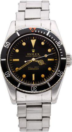 "Rolex Very Rare Ref. 5510 Oyster Perpetual Submariner ""James Bond"" Big Crown Wristwatch, circa 1958"