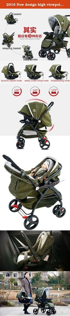 2016 New design high viewpoint Luxury baby stroller 3 in 1 single seat baby carriage infant cart (Green). If your have any question please contact me.