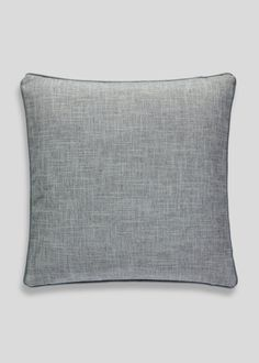 Accent your interior with this simple crosshatch cushion, finished in grey with tonal piping. The perfect accessory for your sofa. Bed Pillows, Cushions, Matalan, Sofa, Grey, Interior, Living Room, Room Ideas, Decor Ideas
