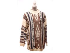 White+and+Earth+Toned+Aztec+Tribal+Print+Tunic+by+TheBeardedBee,+$35.00.... I want!