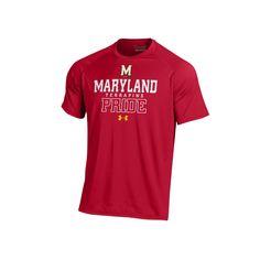 Men's Under Armour Maryland Terrapins Tech Tee, Size: Medium, Red