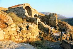 Ruins in Skyros island, Sporades, west Aegean sea, Greece by Zorba The Greek, City Architecture, Greek Islands, Island Life, Mount Rushmore, Sailing, Travel Destinations, Greece, Beautiful Places