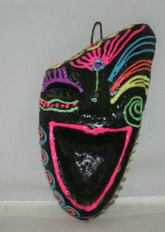 Masskara - Negros Philippines Smiling Ash / Clay Mask Decor | eBay Philippines Tourism, Bacolod City, Willow Tree Figurines, Masquerade Party, Clay Masks, Home Decor Wall Art, Keepsake Boxes, Flower Crafts, I Love Dogs