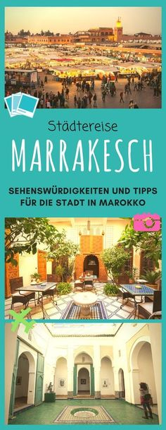 Marokko Marrakech is the pearl of Morocco. Here you will find many Marrakech tips and Marrakech inspiration for your city break. Europe Destinations, Europe Travel Tips, Holiday Destinations, Best Places In Europe, Places To See, Desert Sahara, Europe Continent, Living In Europe, Holiday Places