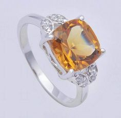 Get online gemstone ring from Mirraw at best prices. Citrine Ring, Silver Work, Rings Online, Ring Designs, Gemstone Jewelry, Jewelry Collection, Women Jewelry, Silver Rings, Bling